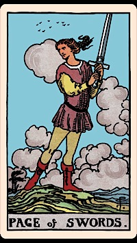 The Card of the Day: The Page of Swords — Elliot Oracle - Tarot Card  Readings